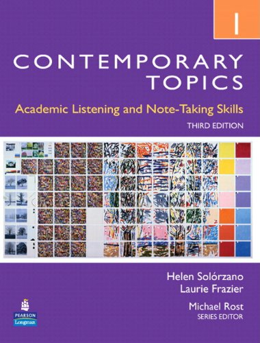 9780132469449: Contemporary Topics 1: Academic Listening and Note-Taking Skills (Student Book and Classroom Audio CD) (3rd Edition)