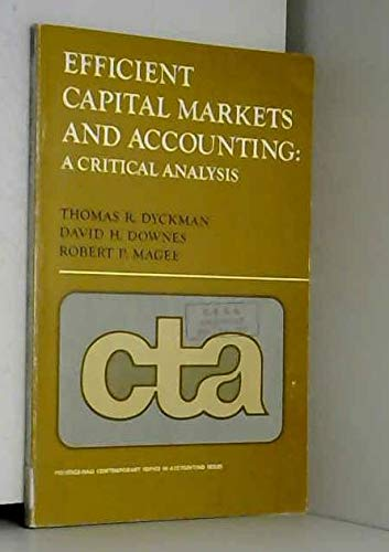 9780132469678: Efficient Capital Markets and Accounting