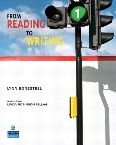 9780132474023: From Reading to Writing 1