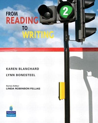 9780132474030: From Reading to Writing 2