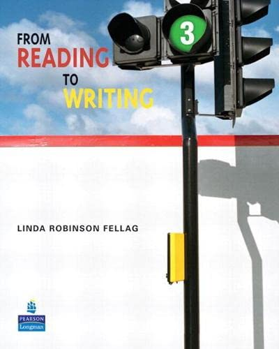 9780132474054: From Reading to Writing 3