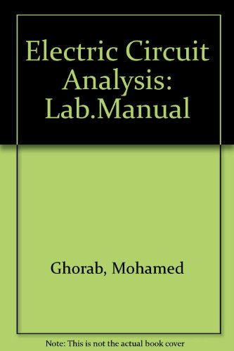 9780132474207: Electric Circuit Analysis/Laboratory Manual