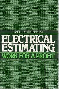 9780132475860: Electrical Estimating: Work for a Profit
