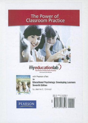 9780132476546: MyEducationLab with Pearson eText -- Standalone Access Card -- for Educational Psychology (myeducationlab (Access Codes))