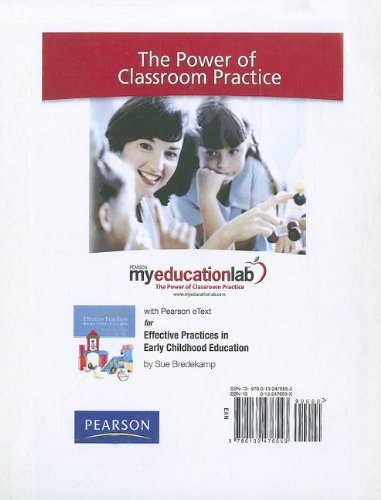 9780132476553: MyEducationLab with Pearson eText -- Standalone Access Card -- for Effective Practices in Early Childhood Education