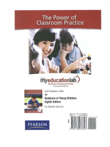 9780132476607: MyEducationLab with Pearson eText -- Standalone Access Card -- for Guidance of Young Children