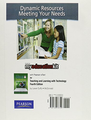 9780132476720: MyEducationKit with Pearson eText -- Standalone Access Card -- for Teaching and Learning with Technology