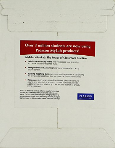 9780132476829: MyEducationLab with Pearson eText -- Standalone Access Card -- for Content Area Reading