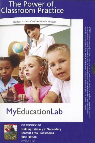 9780132476843: MyEducationLab with Pearson eText -- Access Card -- for Building Literacy in Secondary Content Area Class (myeducationlab (Access Codes))
