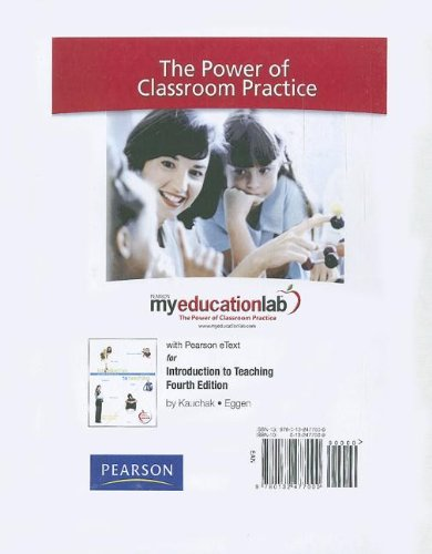 9780132477000: MyEducationLab with Pearson eText -- Standalone Access Card -- for Introduction to Teaching