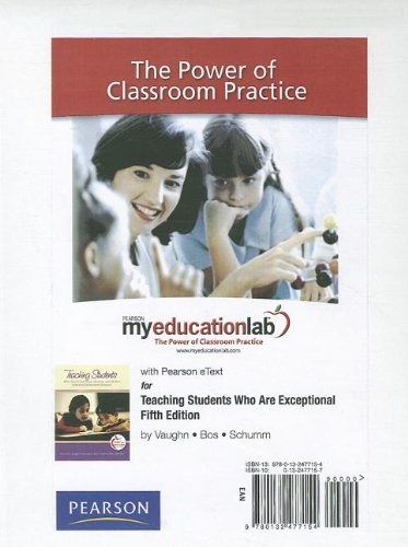 9780132477154: MyEducationLab with Pearson eText -- Standalone Access Card -- for Teaching Students Who Are Exceptional (myeducationlab (Access Codes))