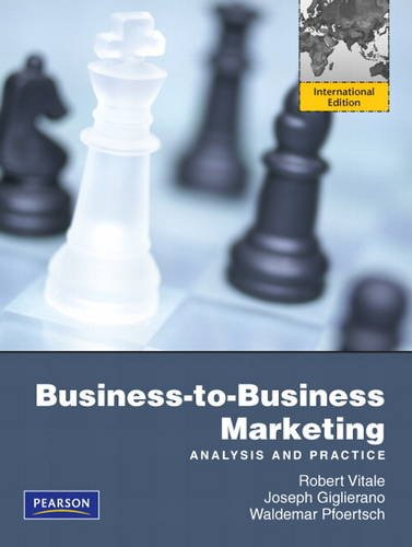 9780132479059: Business to Business Marketing