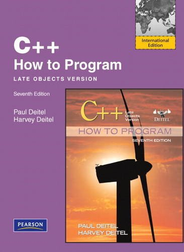 9780132484589: C++ How to Program: Late Objects Version: International Edition (How to Program (Deitel))