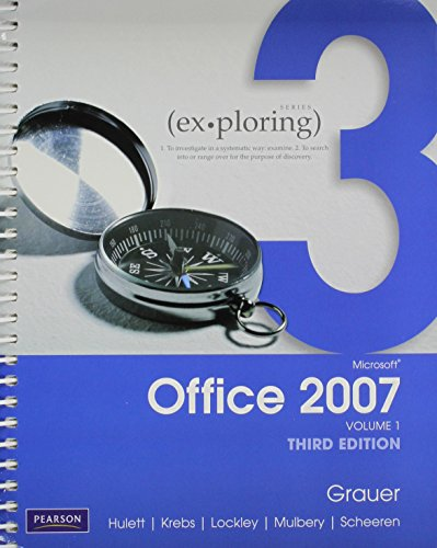 9780132485968: Exploring Microsoft Office 2007 Computing Concepts Getting Started, and Exploring Microsoft Office 2007 Vol. 1, myitlab -- Access Card -- for Office 2007 Package (3rd Edition)