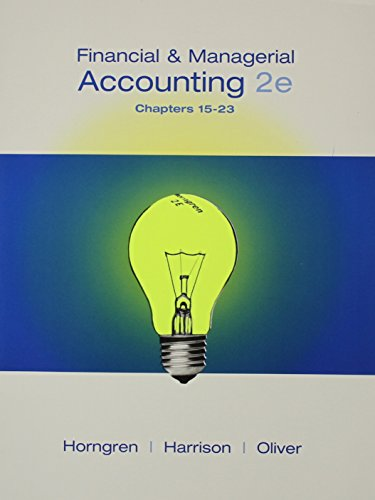 9780132486811: Financial and Managerial Accounting, Chapters 15-23 and MyAccountingLab Student Access Code Card Package (2nd Edition)