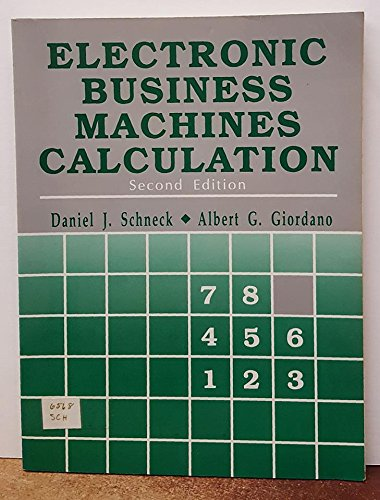 9780132488402: Electronic Business Machines Calculation