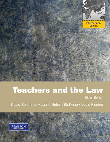 9780132488662: Teachers and the Law