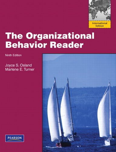 9780132494083: The Organizational Behavior Reader: International Version