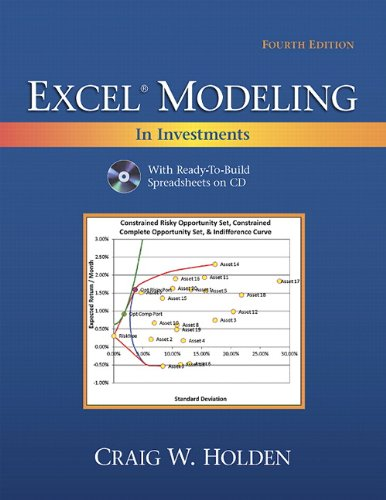 9780132497879: The Prentice Hall series in finance Excel modeling in investments