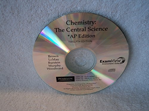 9780132499033: ExamView Assessment Suite ISBN 0132499037, 9780132499033 for Chemistry the Central Science AP Edition Twelfth Edition Brown, LeMay, Bursten, Murphy, Woodward