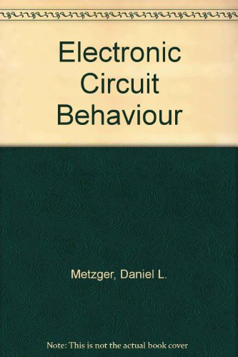 9780132503815: Electronic Circuit Behaviour