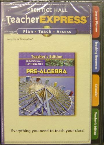 9780132504676: Teacher Express T/a Pre-Algebra CD'S (Teacher's Edition, 2 CD Set, Prentice Hall Mathematics)