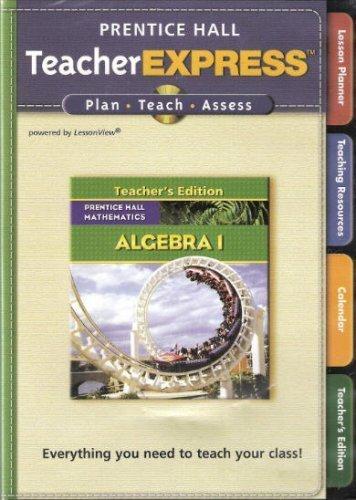 9780132504973: Prentice Hall Mathematics: Algebra 1, Teacher Express (Book & 2 CD-ROM )