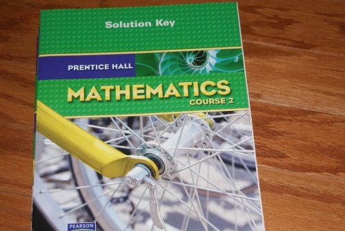 9780132505673: Solution Key for Prentice Hall Mathematics Course 2