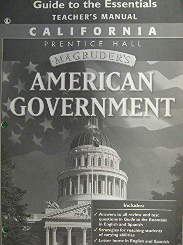 Magruder's American Government Guide to the Essentials