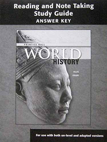 9780132513821: Prentice Hall World History: Reading and Note Taking Study Guide - Answer Key