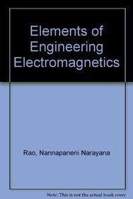 9780132516044: Elements of Engineering Electromagnetics