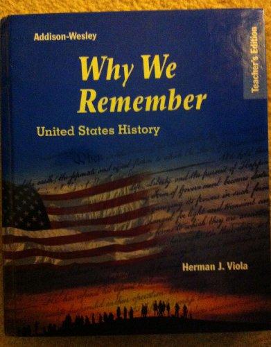 9780132516150: Teacher's Edition - Why We Remember: U. S. History (Prentice Hall Classics)