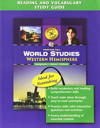 9780132516365: WORLD STUDIES WESTERN HEMISPHERE READING AND VOCABULARY STUDY GUIDE 2008C