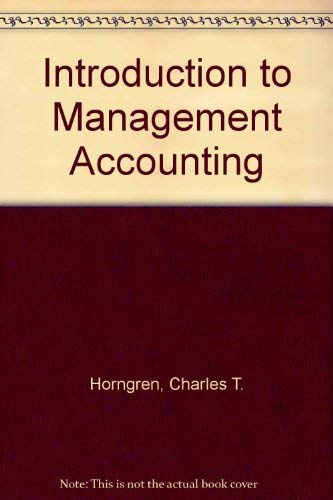 9780132517034: Introduction to Management Accounting - Study Guide
