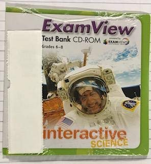 9780132523721: Interactive Science Grades 6-8 Examview Test Bank CD-ROM