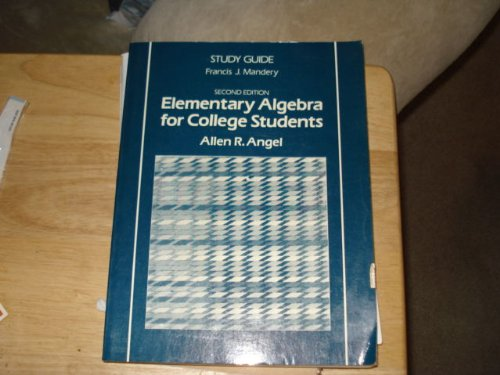 9780132527354: Elementary algebra for college students