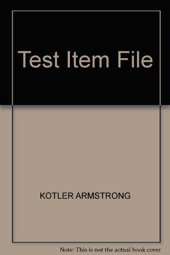 9780132529099: Test Item File