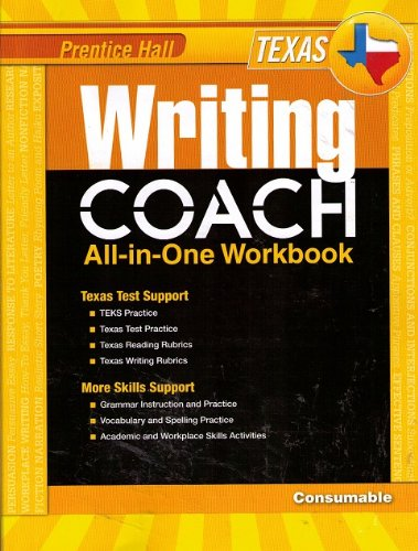 9780132530071: Prentice Hall Writing Coach All-in-one Workbook Texas Edition Grade 6