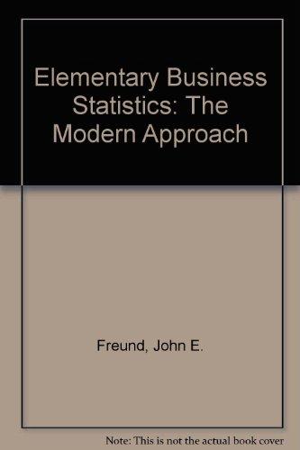 9780132530880: Elementary Business Statistics: The Modern Approach