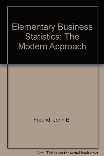 9780132530880: Elementary Business Statistics: The Modern Approach