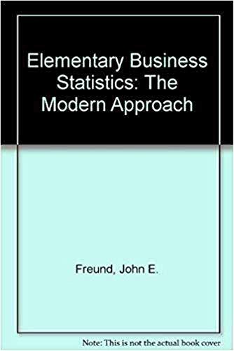 9780132531207: Elementary Business Statistics: The Modern Approach