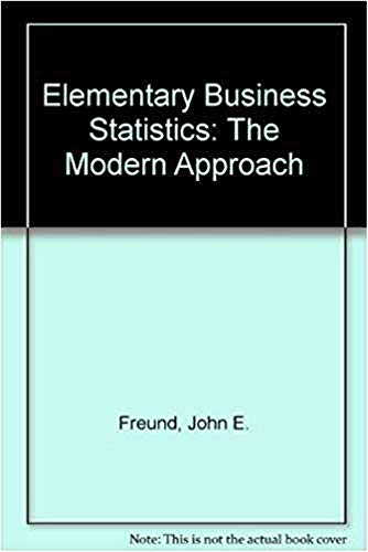 9780132531207: Elementary Business Statistics: The Modern Approach