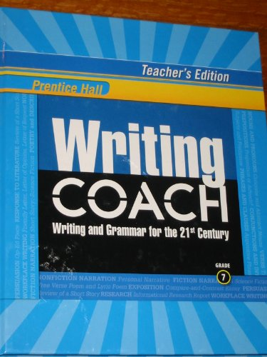 Prentice Hall Writing Coach: Writing and Grammar: Inc. Pearson Education