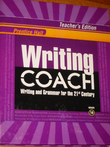 Prentice Hall Writing Coach: Writing and Grammar: Pearson Education, Inc.