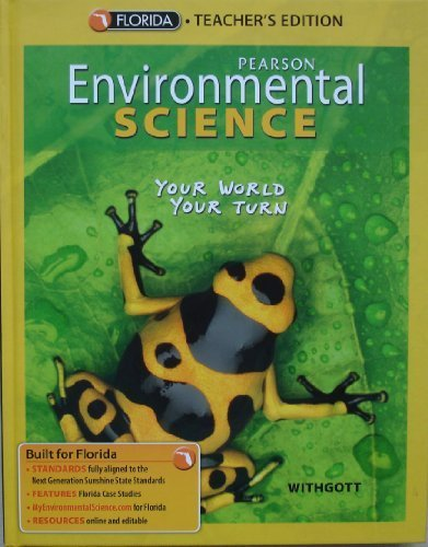 Pearson Environmental Science (Your World Your Turn),: Withgott, Jay