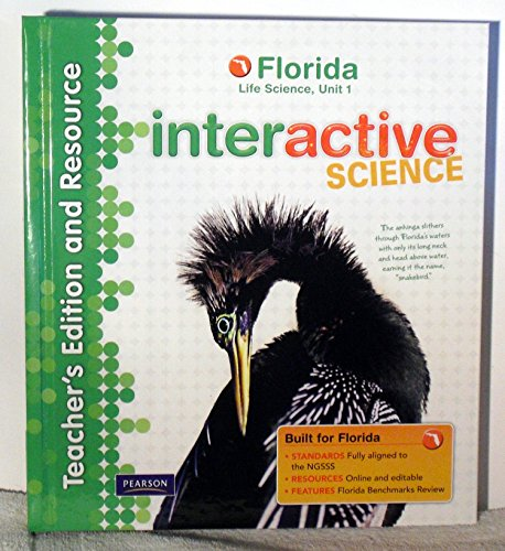 9780132538442: Teacher's Edition and Resource, Florida Life Science, Unit 1 (INTERACTIVE SCIENCE)