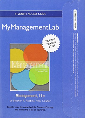 9780132539166: NEW MyManagementLab with Pearson eText -- Access Card -- for Management (MyManagementLab (access codes))