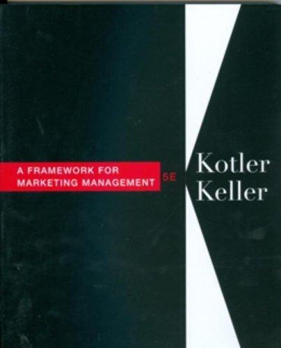 Framework for Marketing Management (5th Edition): Kotler, Philip; Keller,