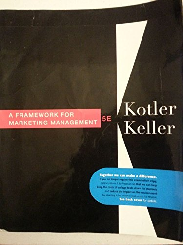 9780132539548: A Framework for Marketing Management 5E