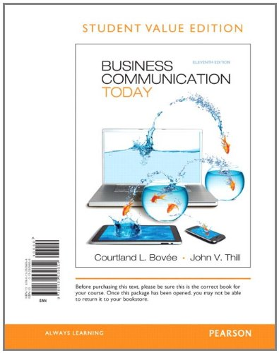 9780132539654: Business Communication Today, Student Value Edition (11th Edition)